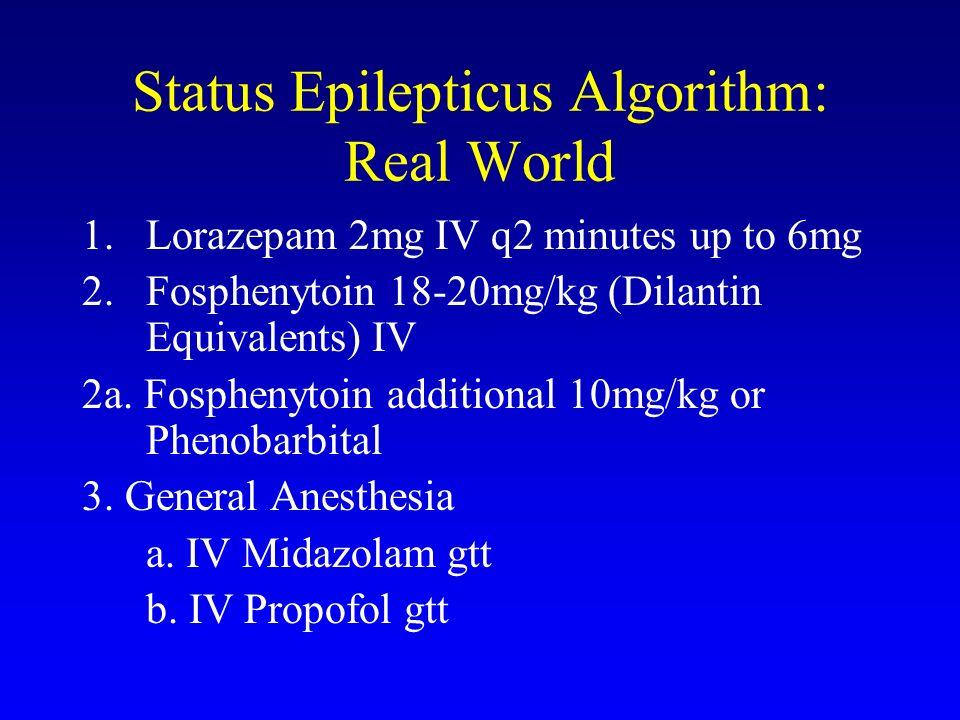 Status Epilepticus Algorithm: Real World