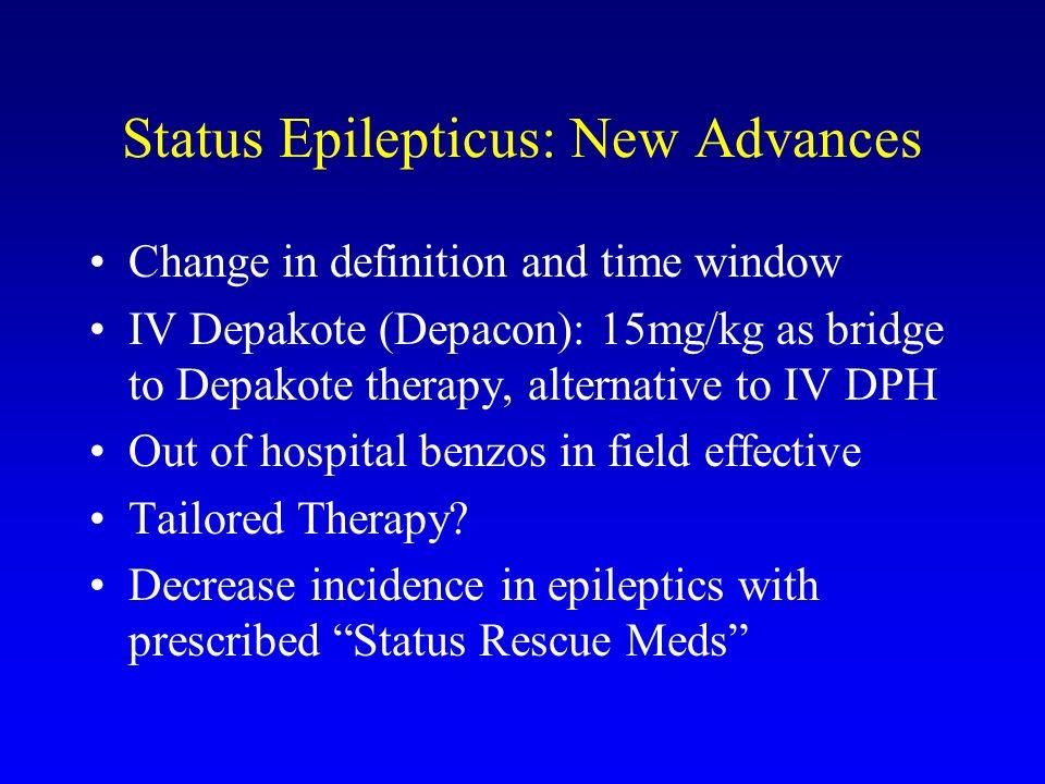 Status Epilepticus: New Advances