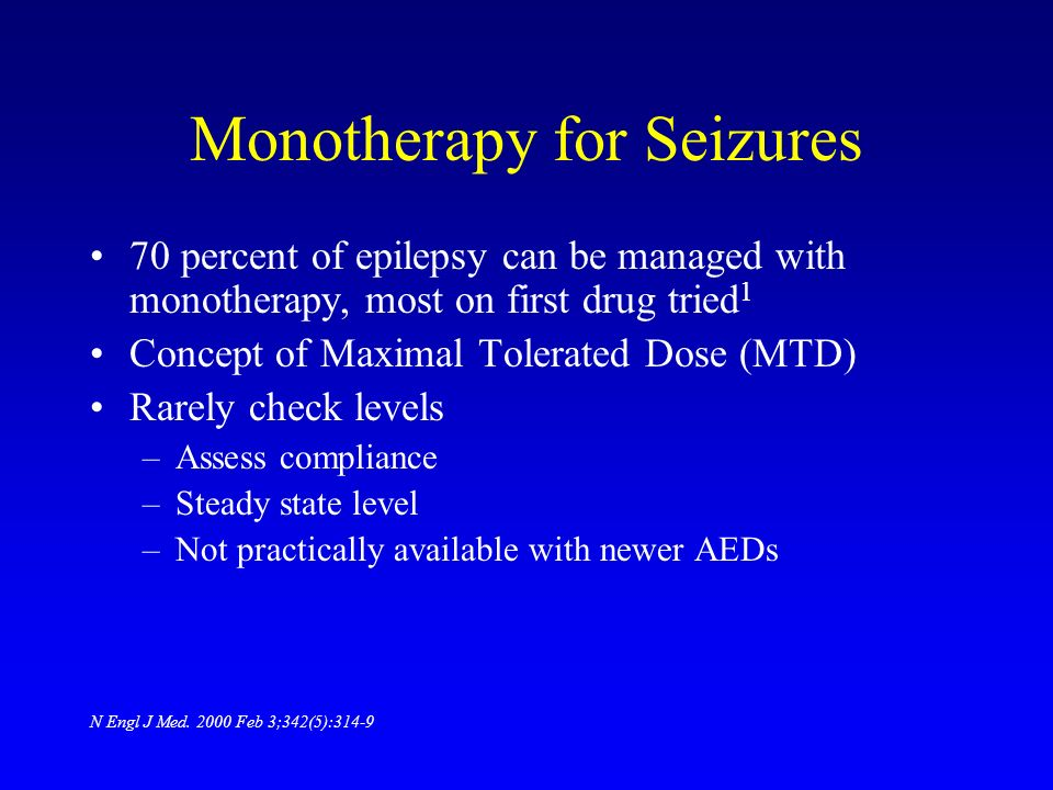 Monotherapy for Seizures