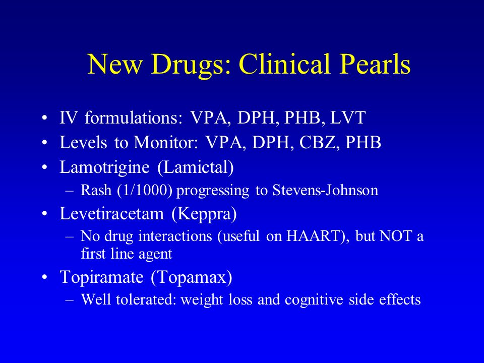 New Drugs: Clinical Pearls