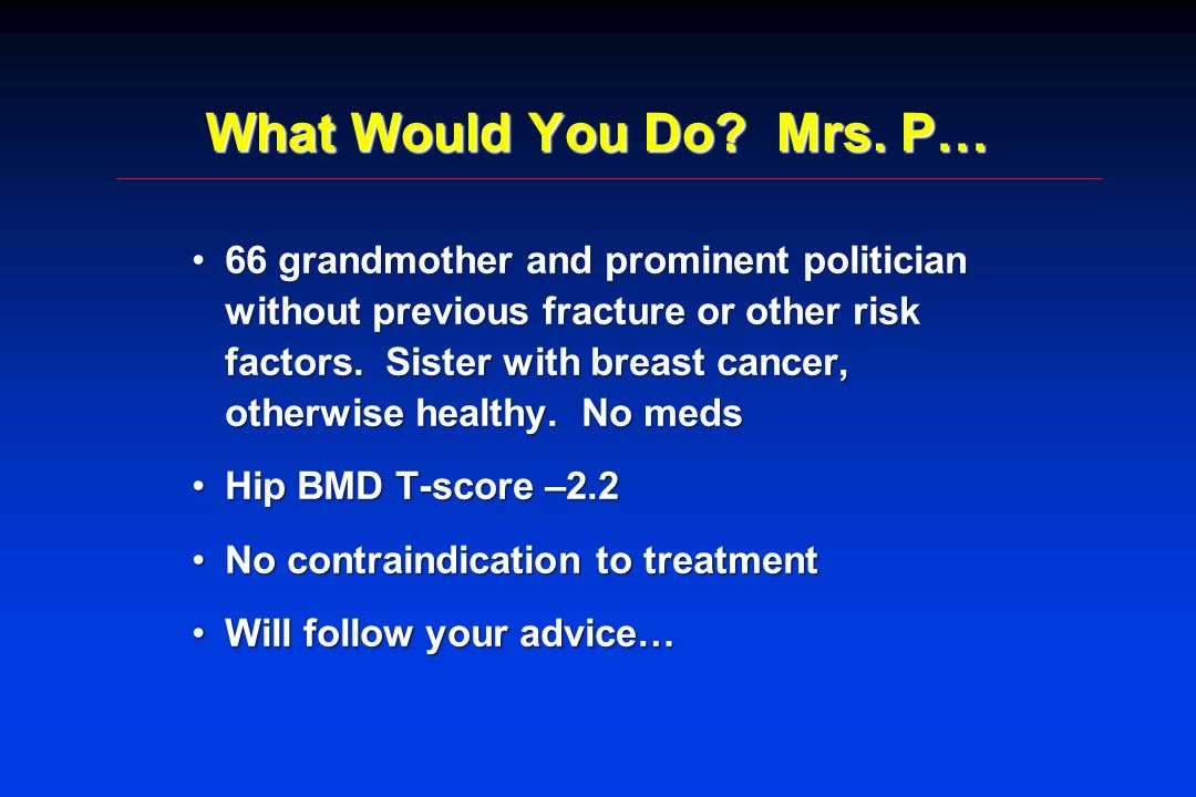 What Would You Do Mrs. P…