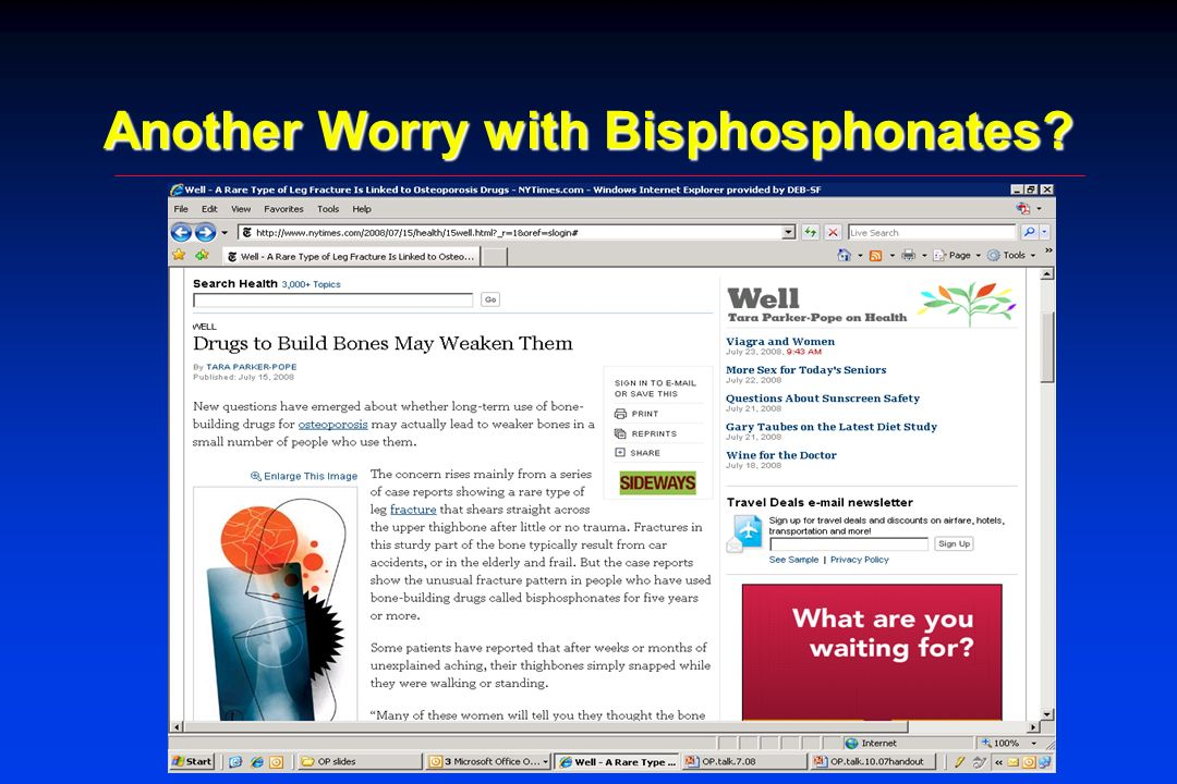 Another Worry with Bisphosphonates