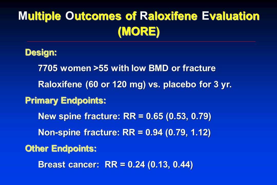 Multiple Outcomes of Raloxifene Evaluation (MORE)