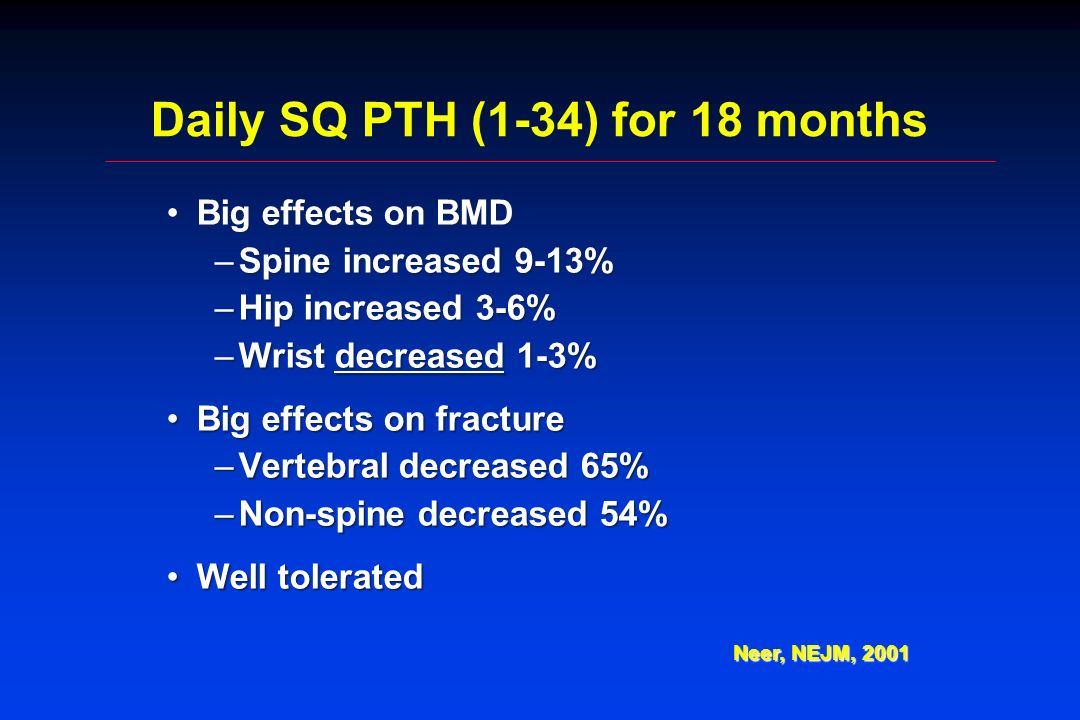 Daily SQ PTH (1-34) for 18 months