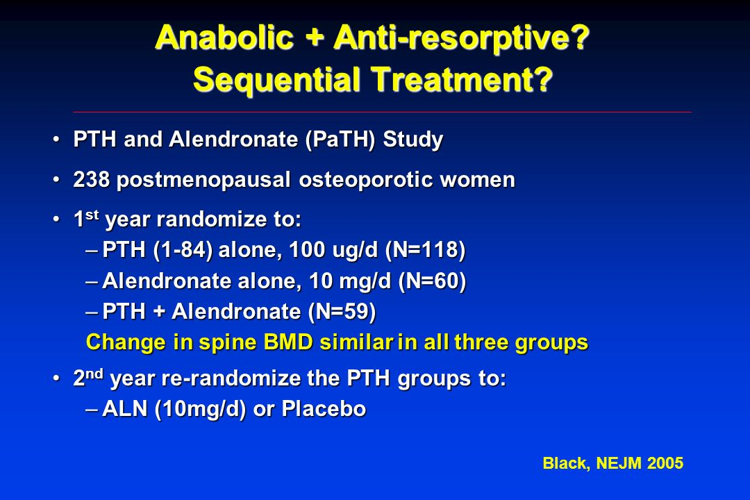 Anabolic + Anti-resorptive Sequential Treatment