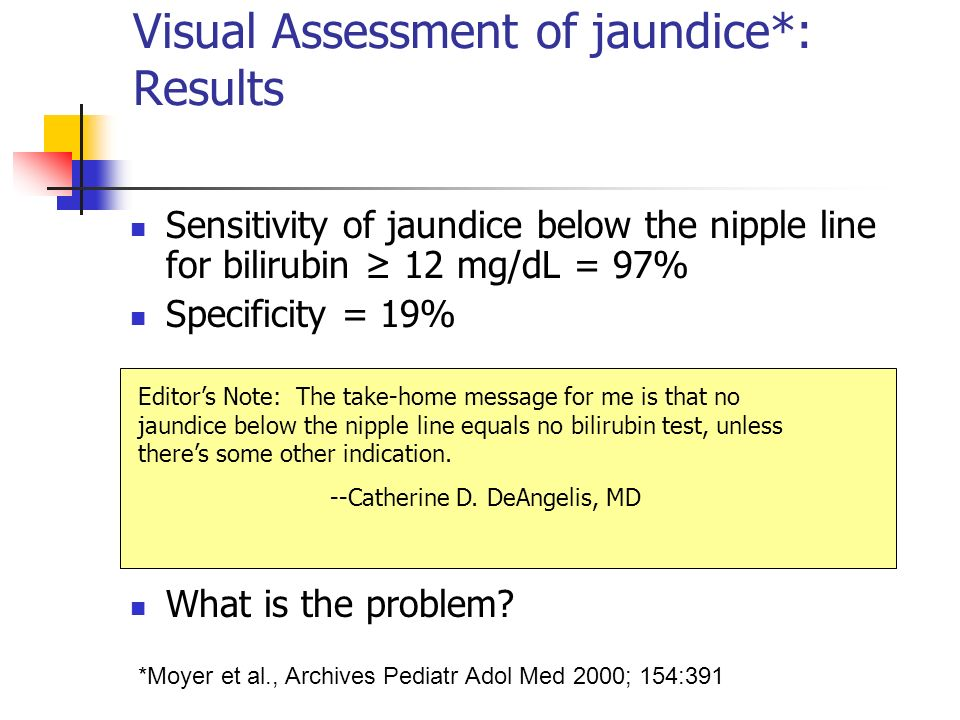 Visual Assessment of jaundice*: Results