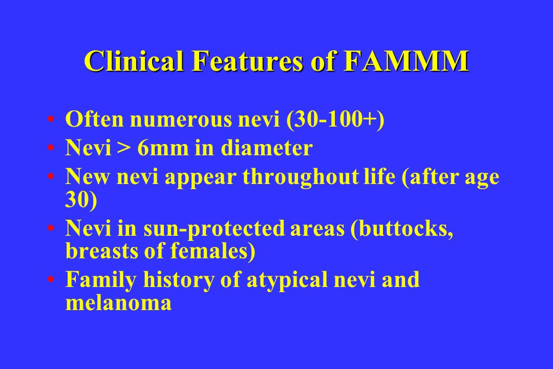Clinical Features of FAMMM
