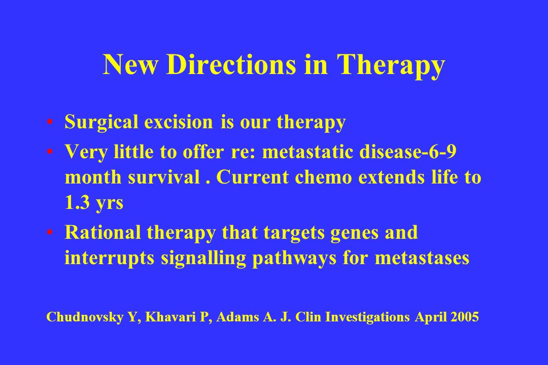 New Directions in Therapy