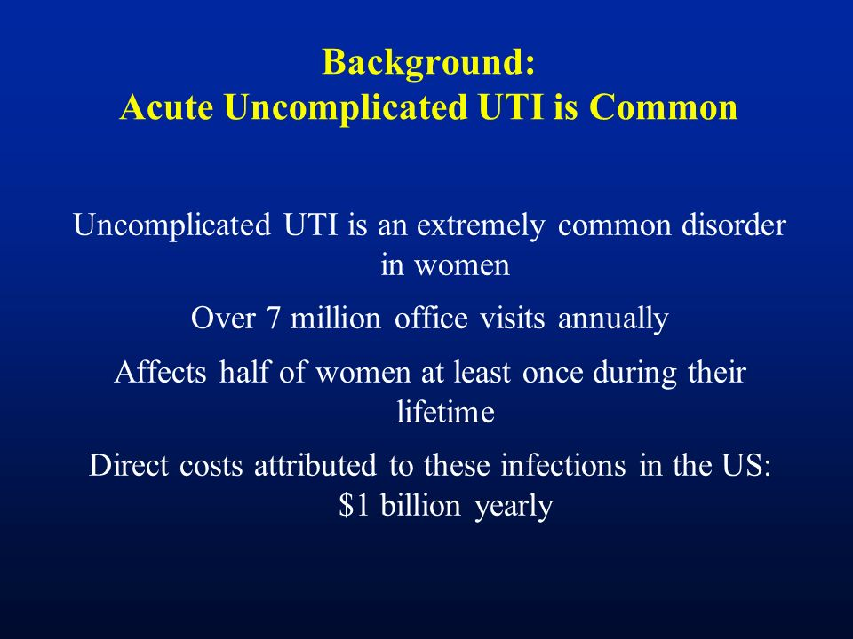 Background: Acute Uncomplicated UTI is Common