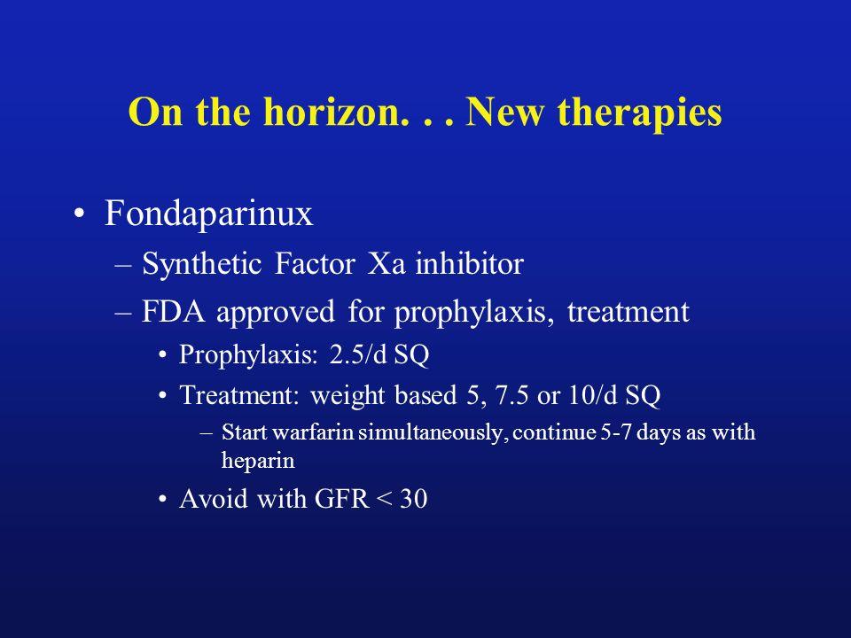 On the horizon. . . New therapies