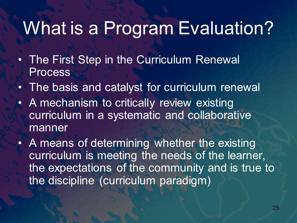 What is a Program Evaluation