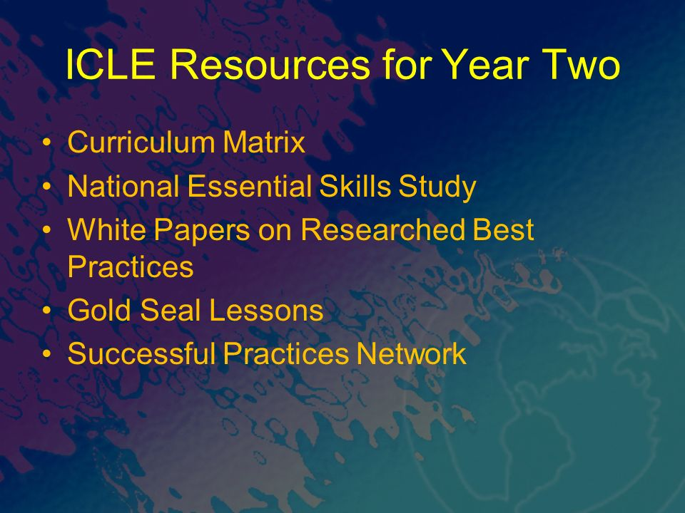 ICLE Resources for Year Two