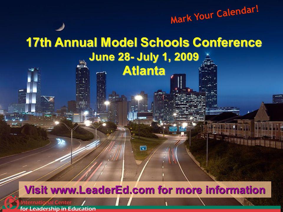 17th Annual Model Schools Conference