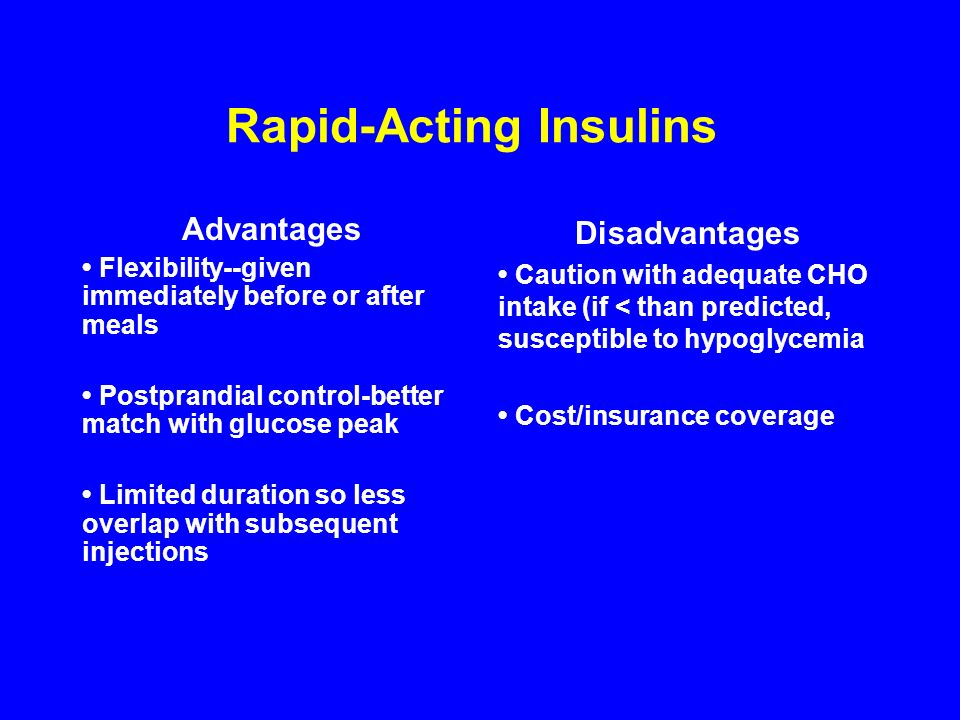 Rapid-Acting Insulins