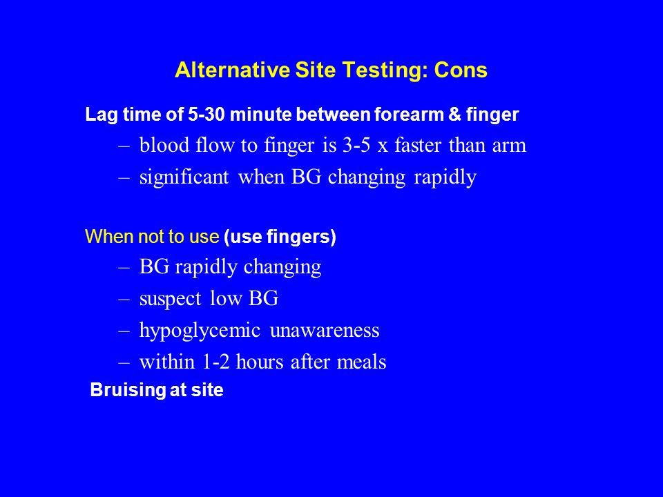 Alternative Site Testing: Cons