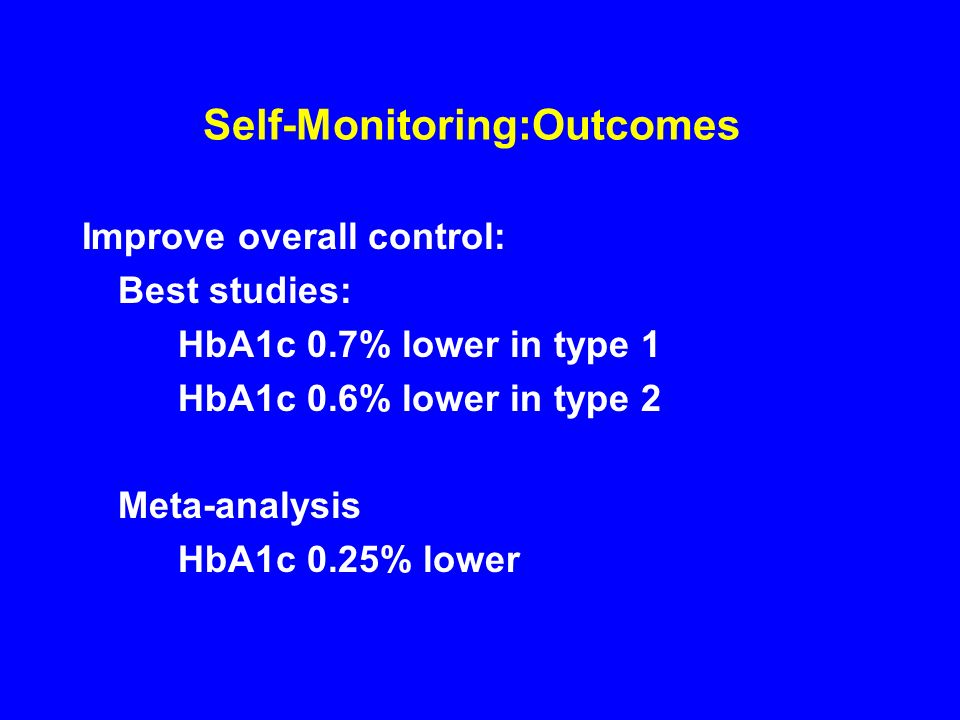 Self-Monitoring:Outcomes