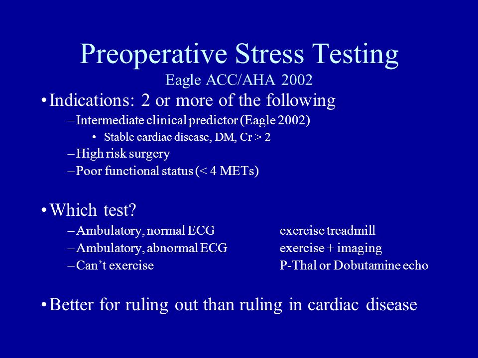 Preoperative Stress Testing Eagle ACC/AHA 2002
