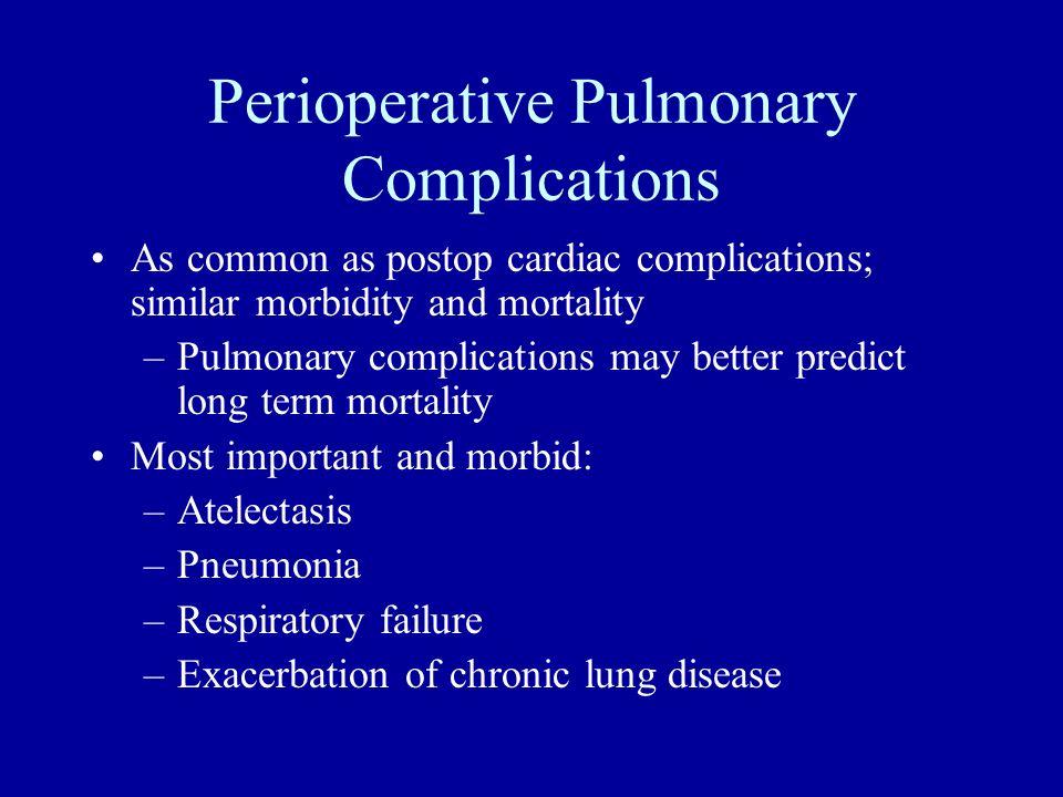 Perioperative Pulmonary Complications