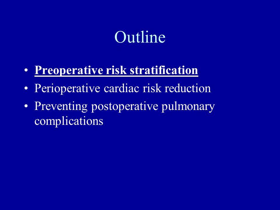 Outline Preoperative risk stratification