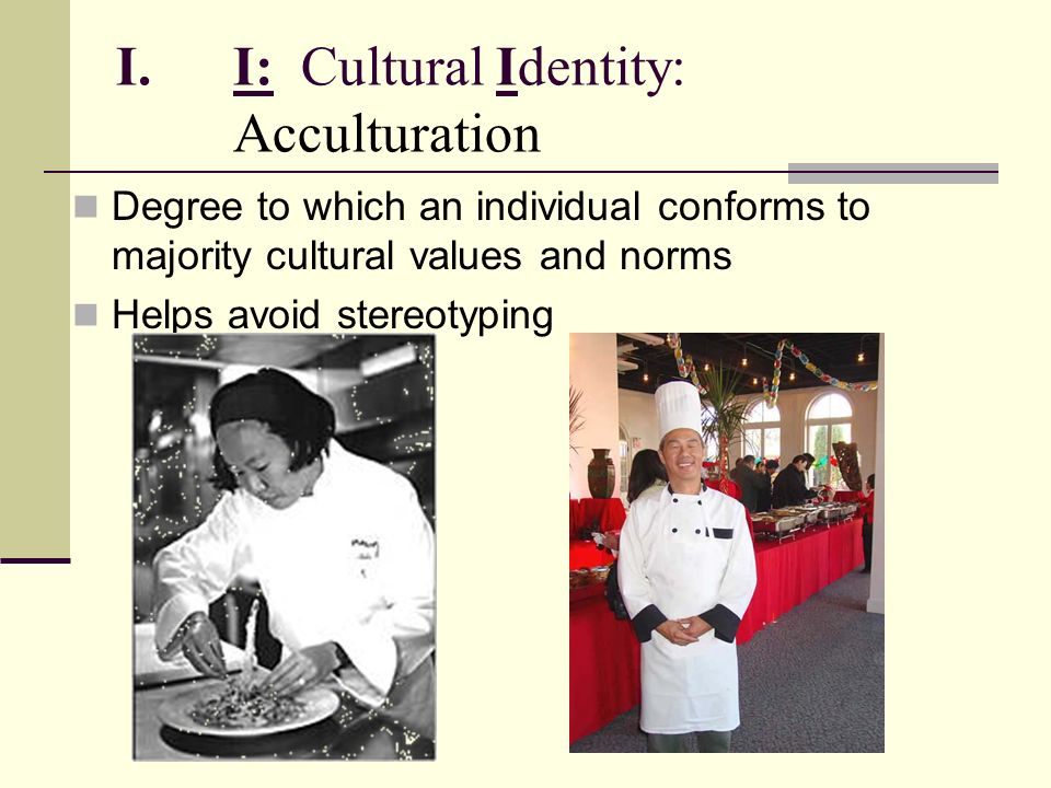 I: Cultural Identity: Acculturation