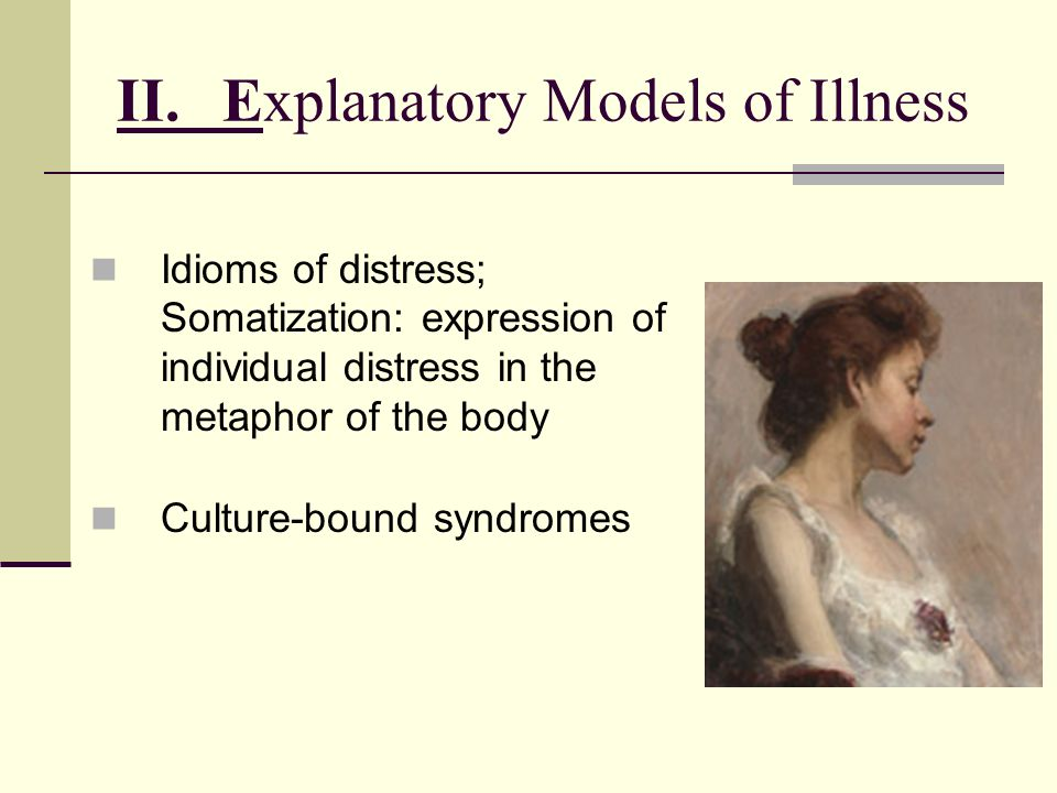 II. Explanatory Models of Illness