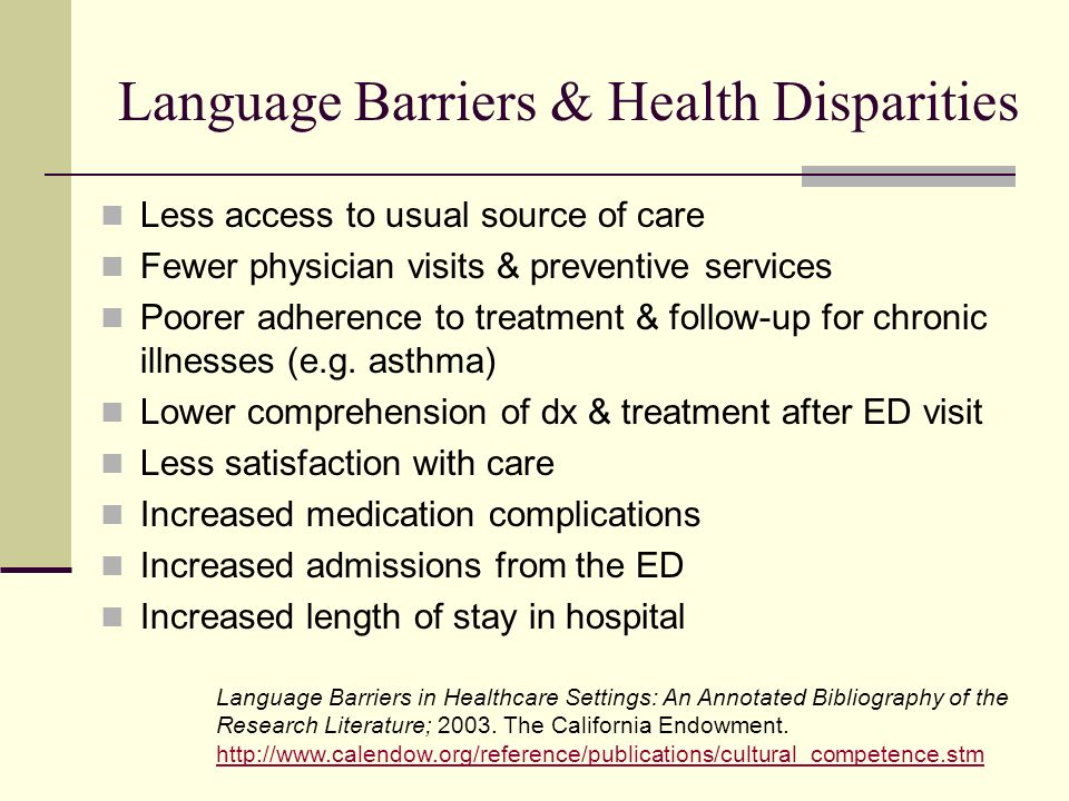 Language Barriers & Health Disparities