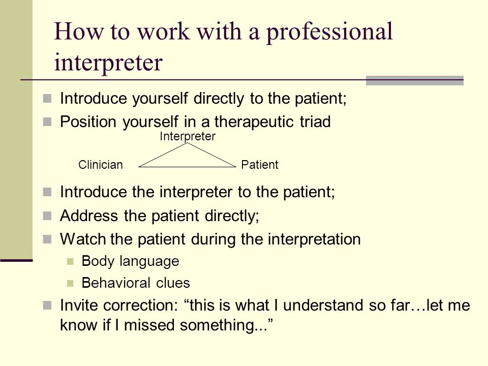 How to work with a professional interpreter