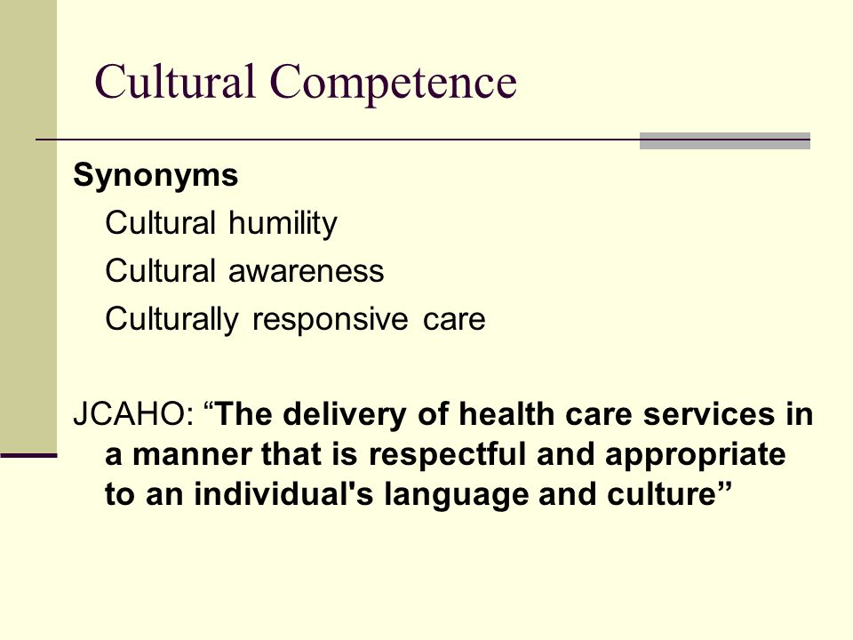 Cultural Competence Synonyms Cultural humility Cultural awareness