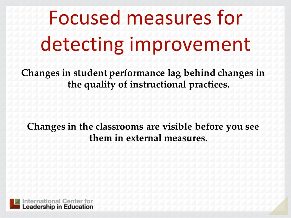 Focused measures for detecting improvement
