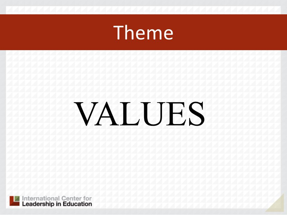 Theme VALUES