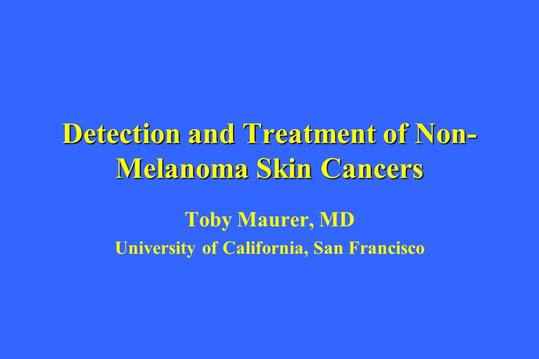 Detection and Treatment of Non-Melanoma Skin Cancers