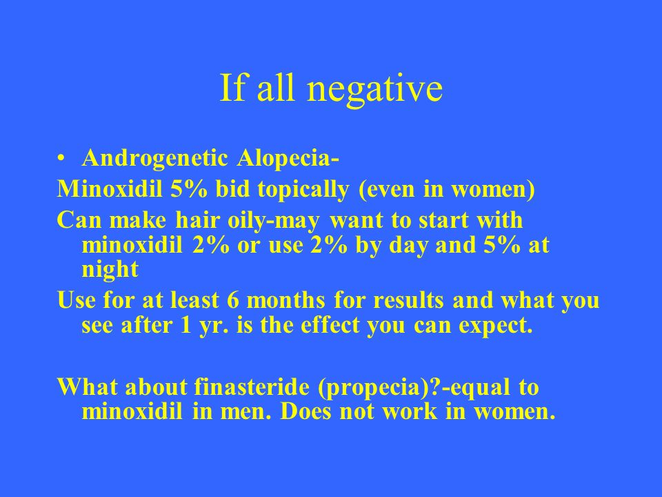 If all negative Androgenetic Alopecia-