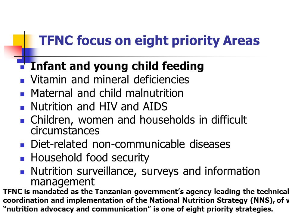 TFNC focus on eight priority Areas