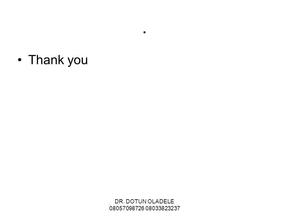 . Thank you DR. DOTUN OLADELE 08057098726 08033823237