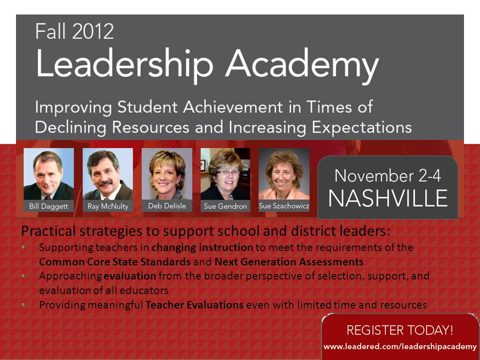 Practical strategies to support school and district leaders:
