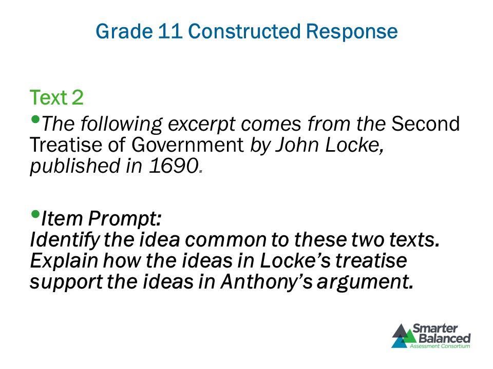 Grade 11 Constructed Response