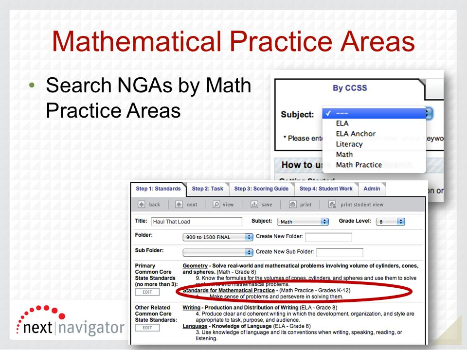 Mathematical Practice Areas