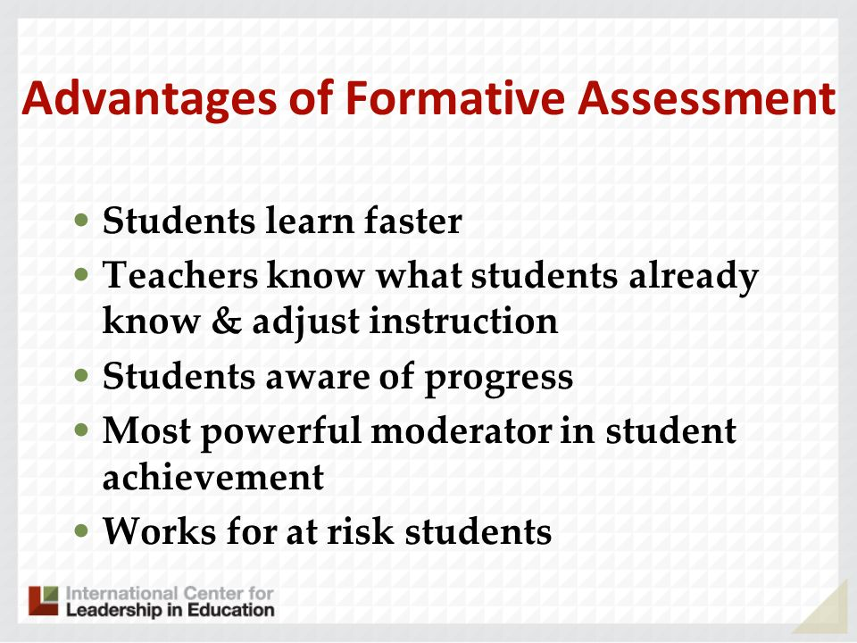 Advantages of Formative Assessment