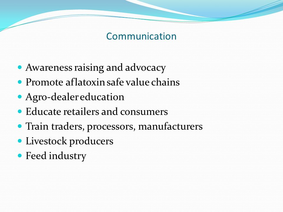 Communication Awareness raising and advocacy