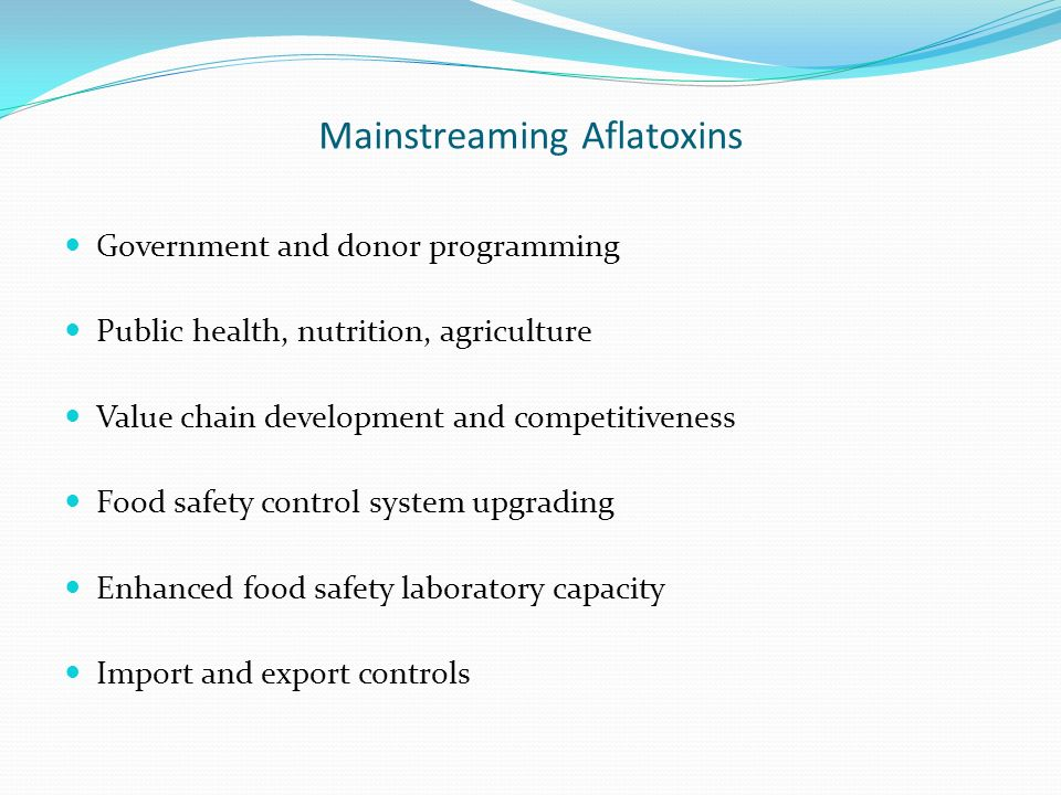 Mainstreaming Aflatoxins