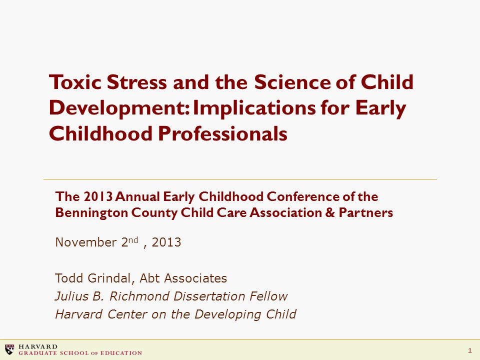 Toxic Stress and the Science of Child Development: Implications for Early Childhood Professionals