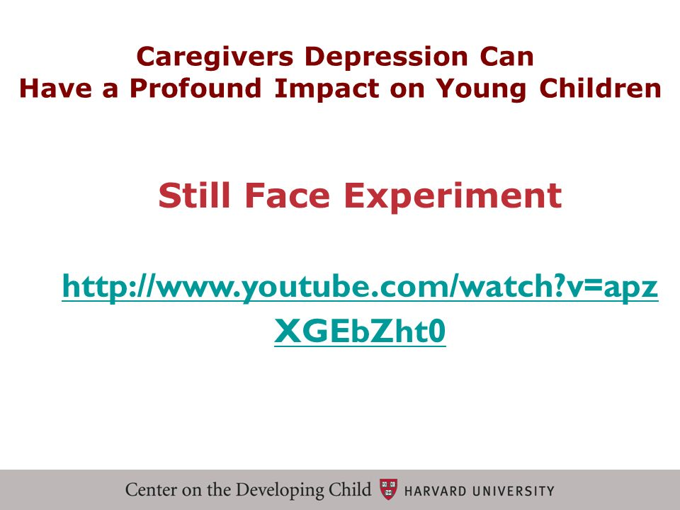 Caregivers Depression Can Have a Profound Impact on Young Children