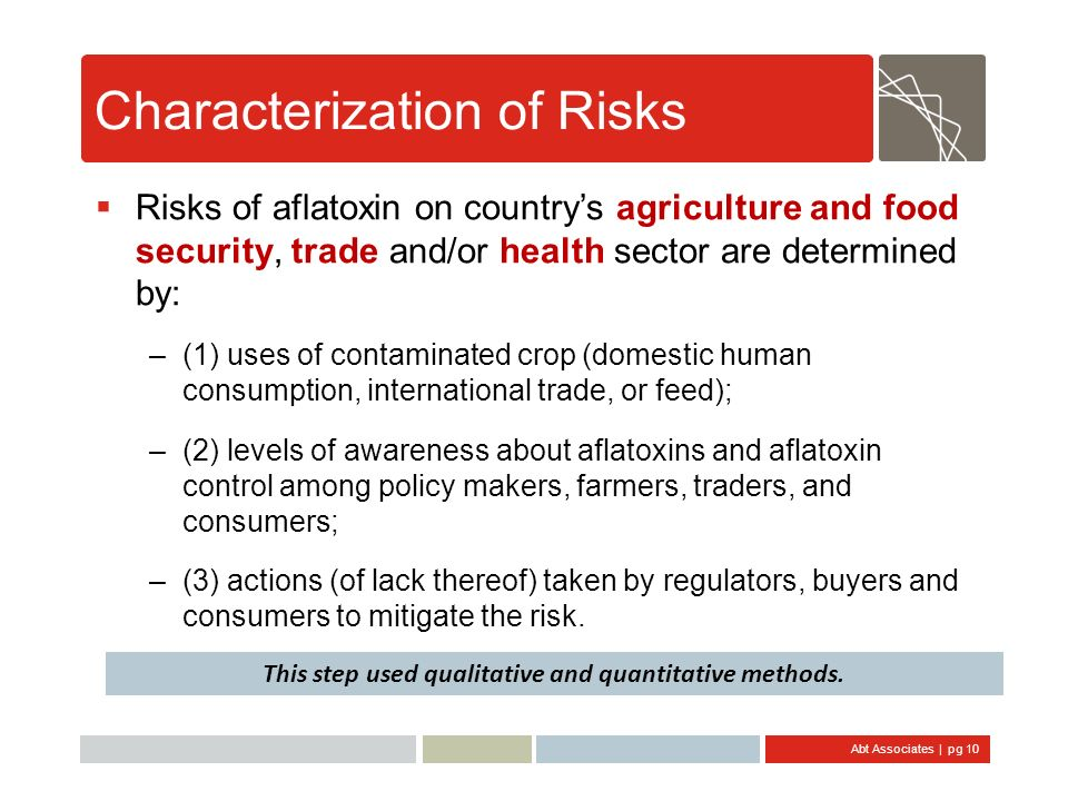 Characterization of Risks