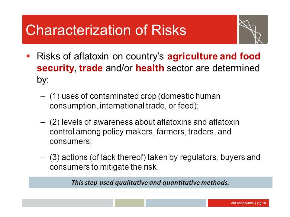 Characterization of Risks