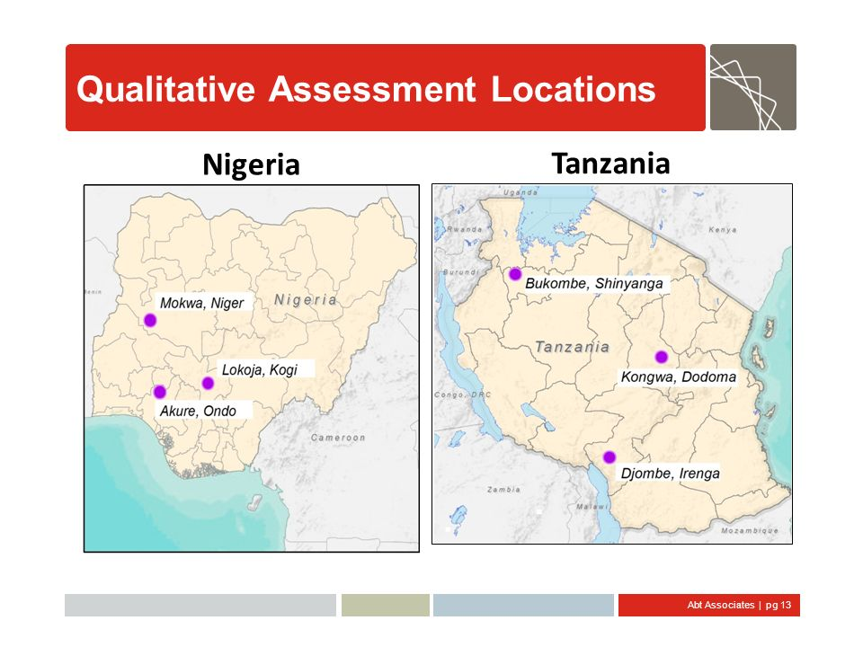 Qualitative Assessment Locations