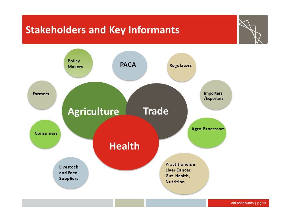 Stakeholders and Key Informants