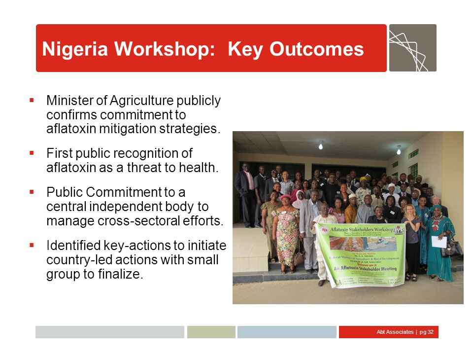 Nigeria Workshop: Key Outcomes