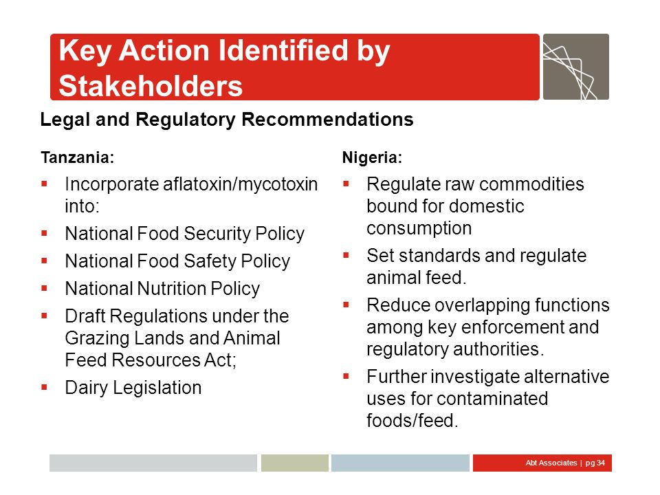 Key Action Identified by Stakeholders