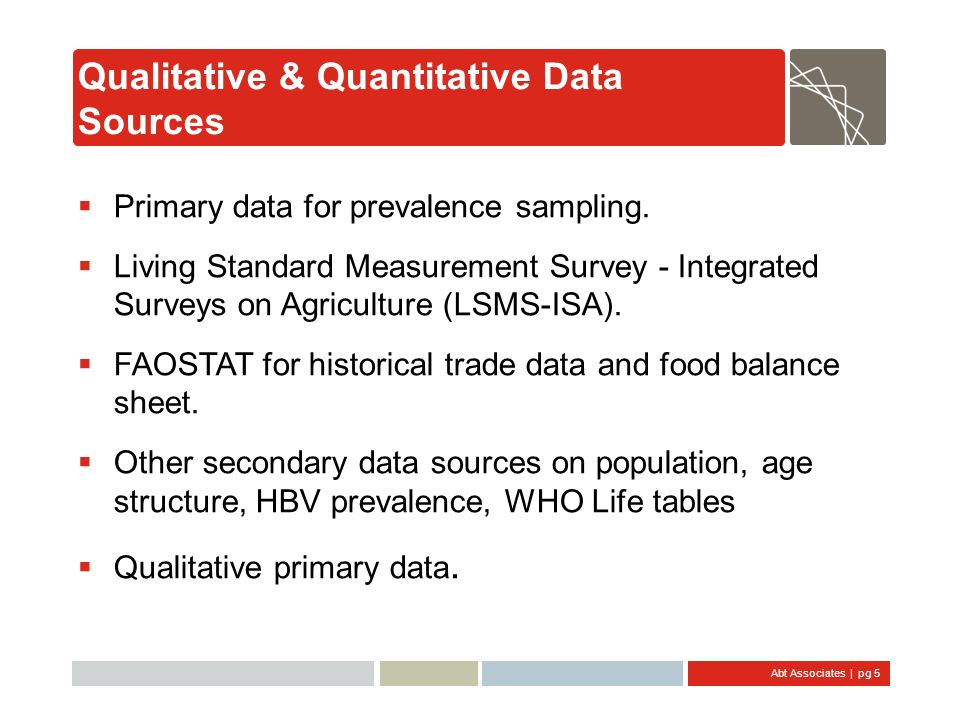 Qualitative & Quantitative Data Sources