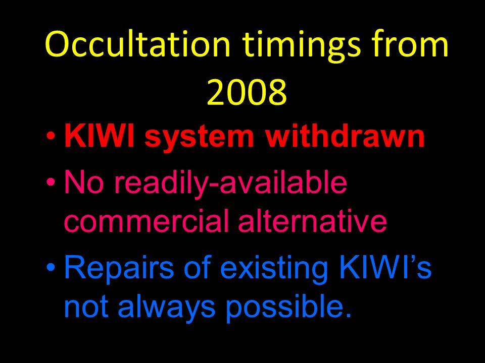 Occultation timings from 2008